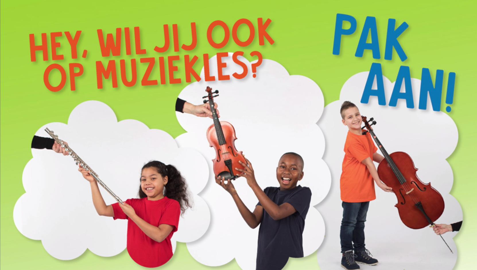 Geen geld voor muziekles? Pak aan, een gratis instrument!