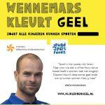 Ambassadeur Erben Wennemars voor Wij Kleuren Geel