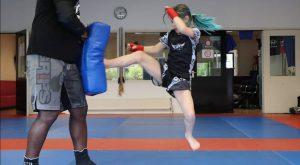 Beau-Ann houdt van kickboksen