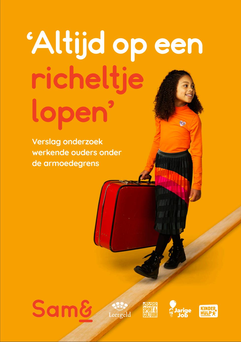 Cover Rapport: 'Altijd op een richeltje lopen'