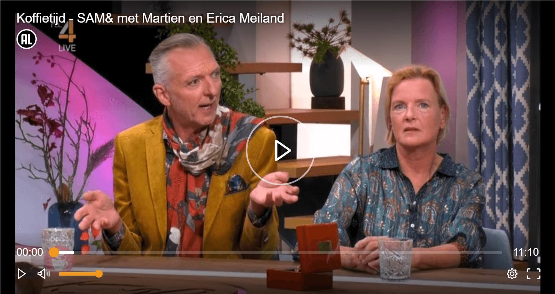 Erica en Martien bij Koffietijd