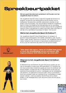 Jeugdfonds Sport & Cultuur Spreekbeurtpakket