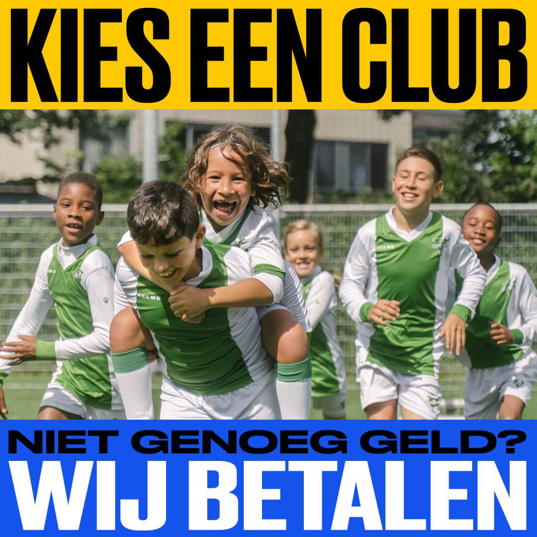 Kies een club, wij betalen!