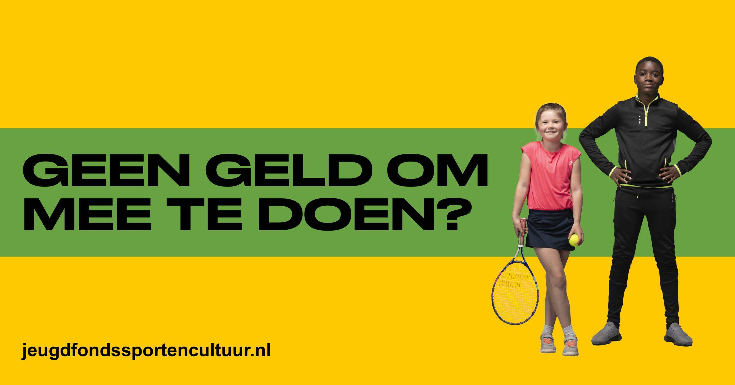 Tennis via Jeugdfonds Sport & Cultuur