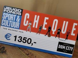 Donatie Jeugdfonds Sport & Cultuur Utrecht